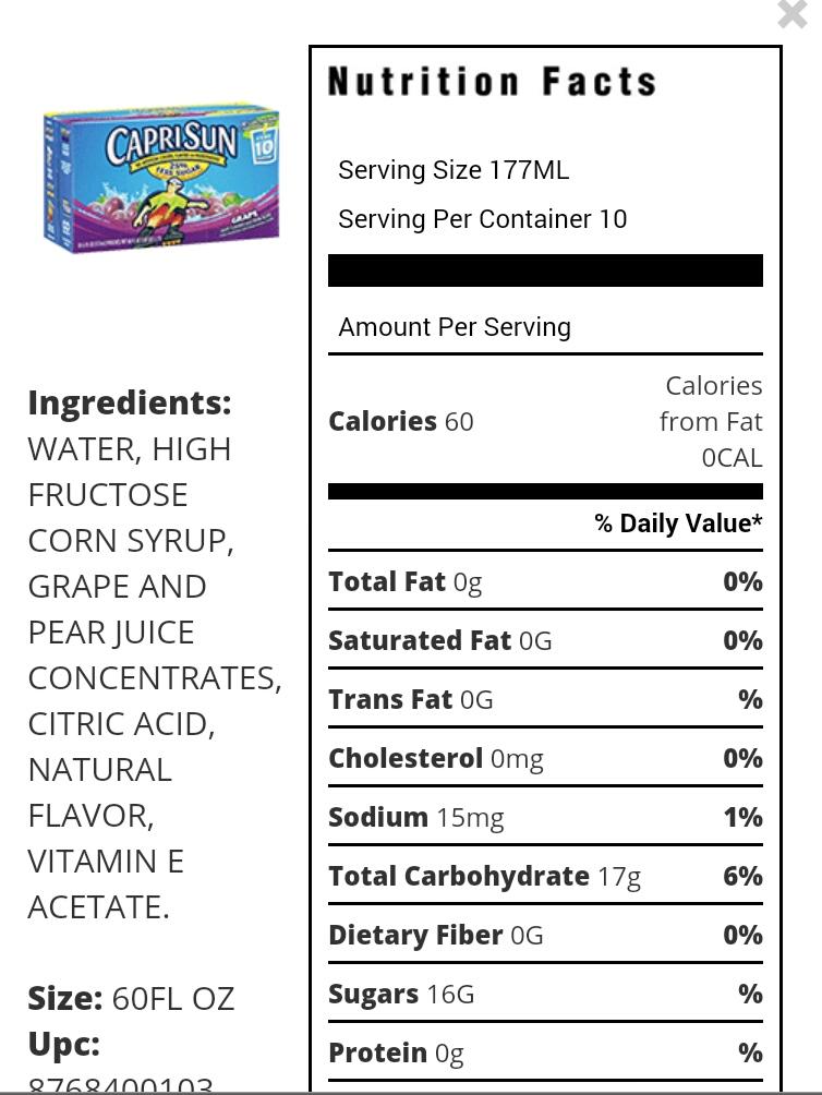 swap saludable  honest kids organic fruit juice vs capri sun