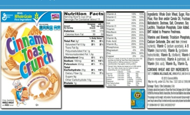 Cinnamon Toast Crunch Nutrition