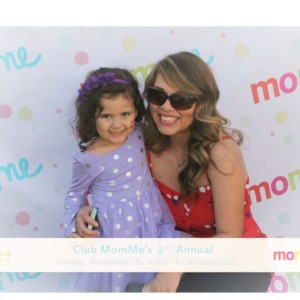 My daughter and I at Club MomMe Family Fall Fest 2014