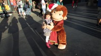 Natalia with Curious George