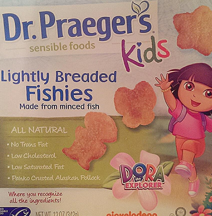 Healthy swap dr praeger s lightly breaded fishies vs for Dr praeger s fish sticks