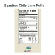Beanitos Chile Lime Puffs Nutrition Facts