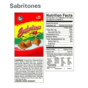 Sabritones Ingredients and Nutrition Facts