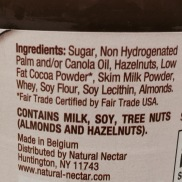 Natural Nectar Choco Dream Hazelnut Cocoa Spread Ingredients
