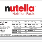 Nutella Nutrition Label